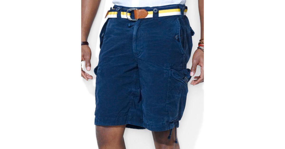 deaa65514e Ralph Lauren Polo Classicfit Canadian Ripstop Cargo Shorts in Blue for Men  - Lyst