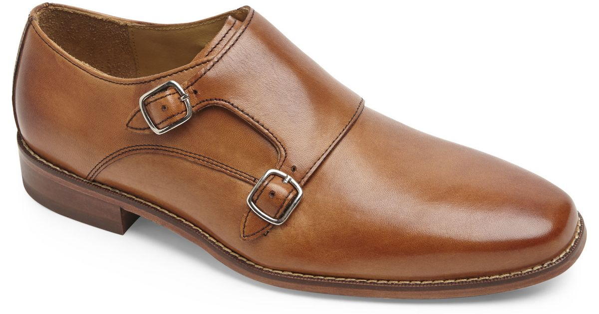 best quality on wholesale pretty nice Cole Haan Brown Tan Giraldo Double Monk Strap Shoes for men