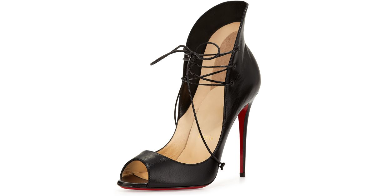 Christian Louboutin Leather Lace Ups Supply For Sale jVdfmYrT