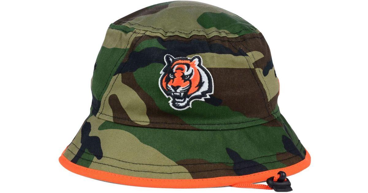 031d734b880 Lyst - KTZ Cincinnati Bengals Camo Pop Bucket Hat in Green for Men