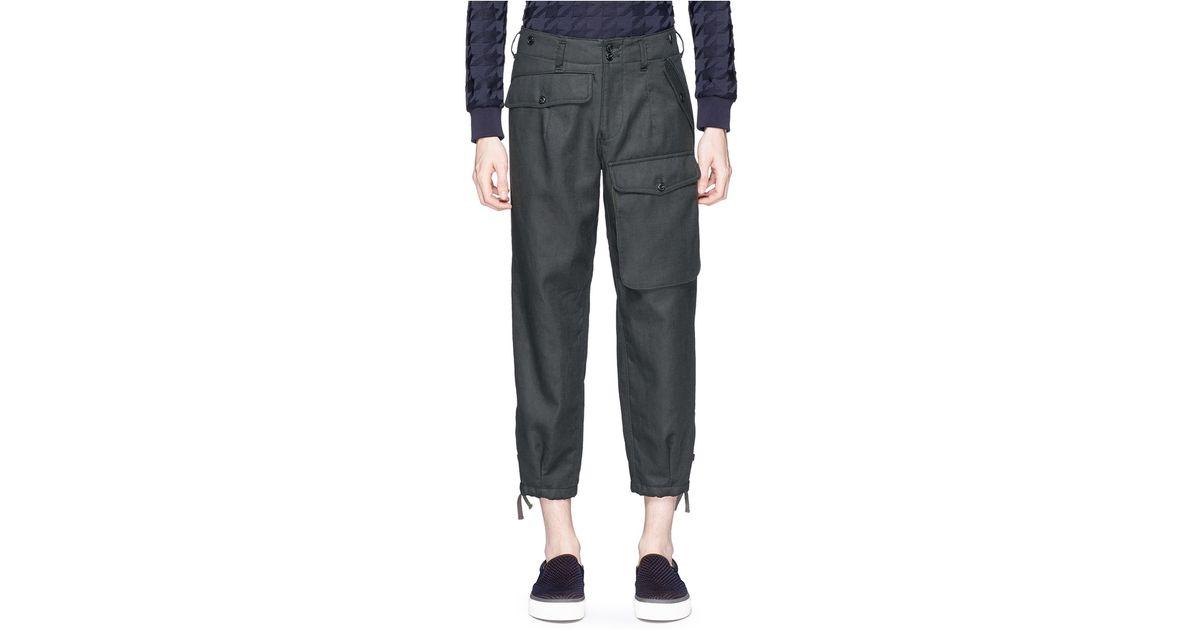Original INC International Concepts Petite Linen DrawstringWaist Cargo Pants