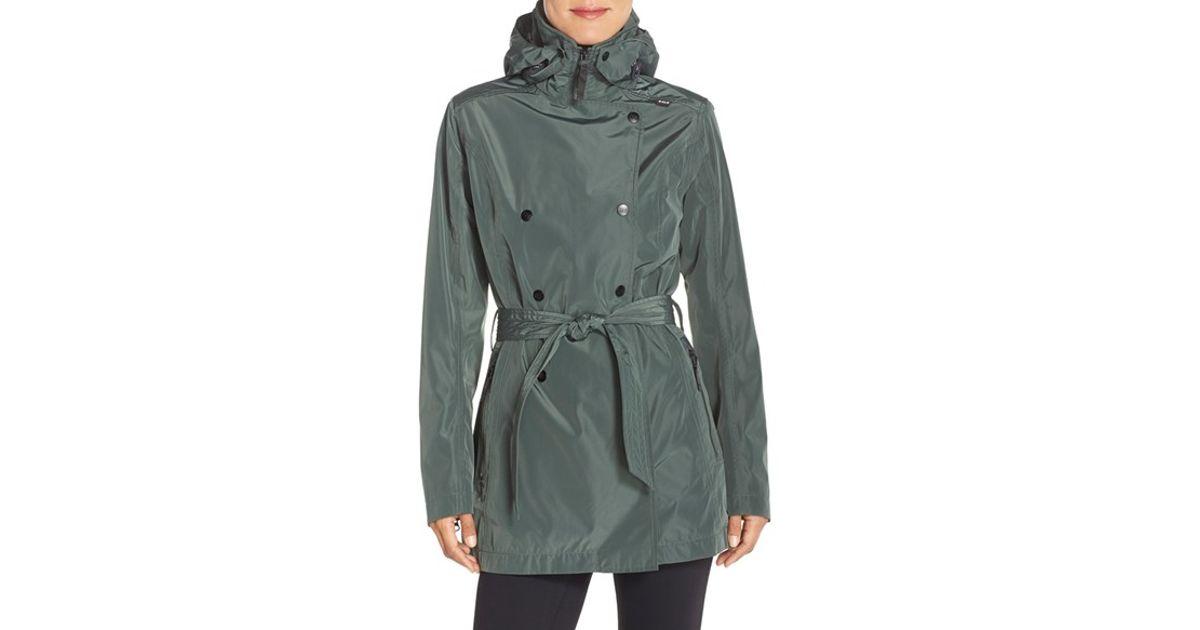 price price fresh styles Helly Hansen Green 'wesley' Waterproof Trench Coat