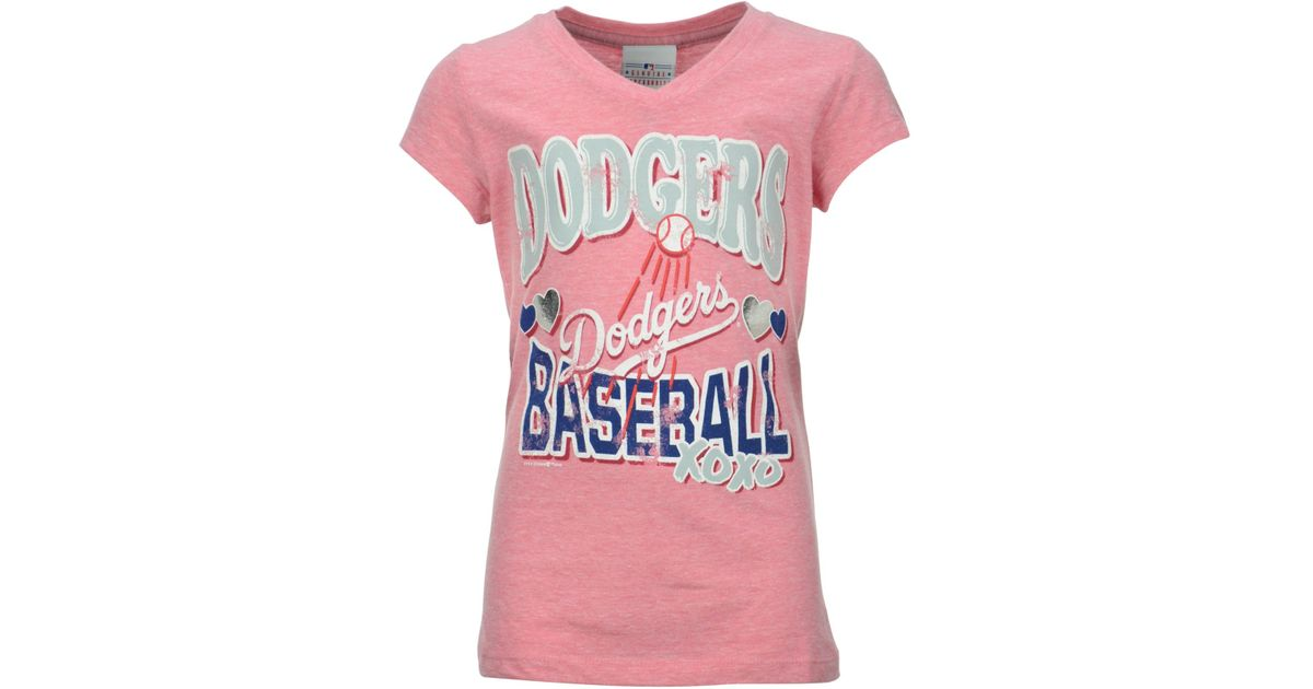 Lyst - Majestic Girls  Los Angeles Dodgers Pink T-shirt in Pink 0a45b630c9c