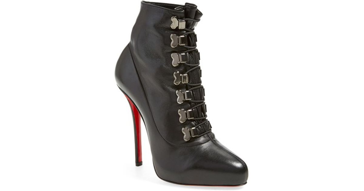 Christian Louboutin Square Toe Boots Boutin Shoes