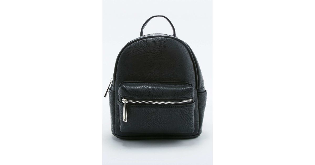 456e27e8e4 Urban Outfitters Black Faux-leather Mini Backpack in Black - Lyst