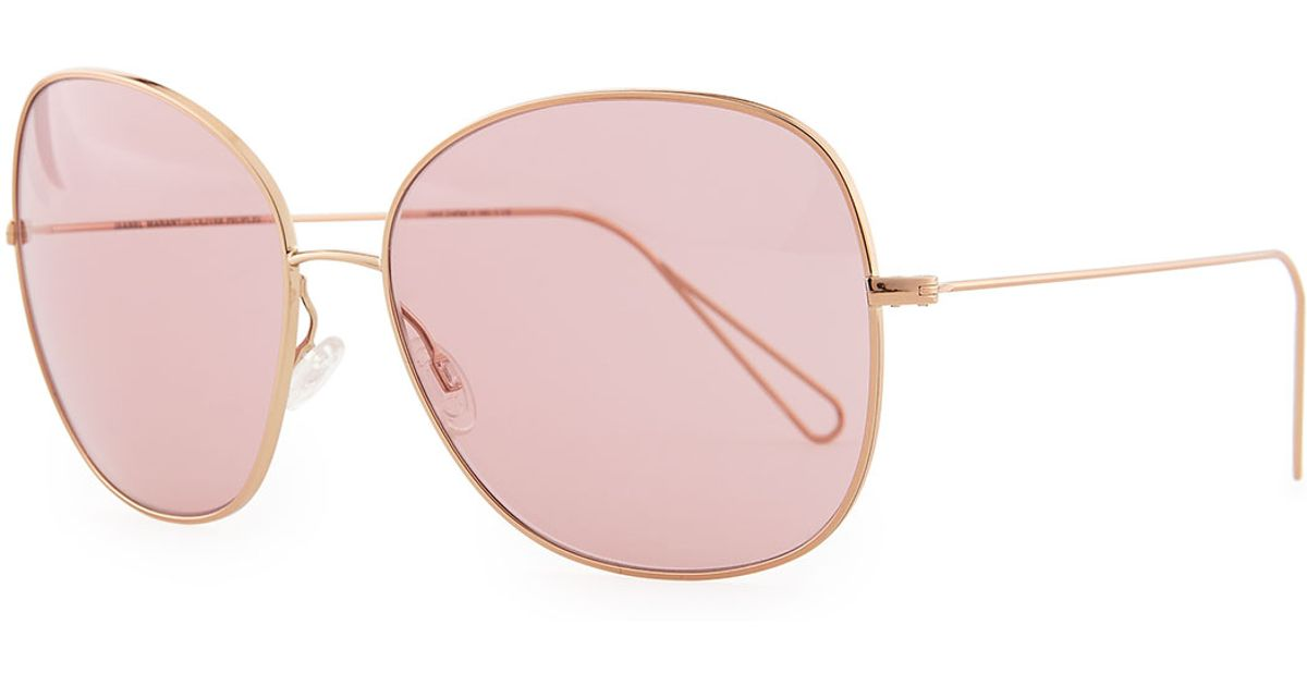 3f116d89d360 Lyst - Oliver Peoples Isabel Marant Par Daria 62 Oversized Sunglasses in  Metallic for Men