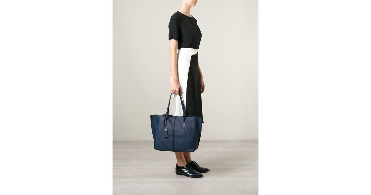 5ed8bef01 Tod's 'Joy' Shopping Tote in Blue - Lyst
