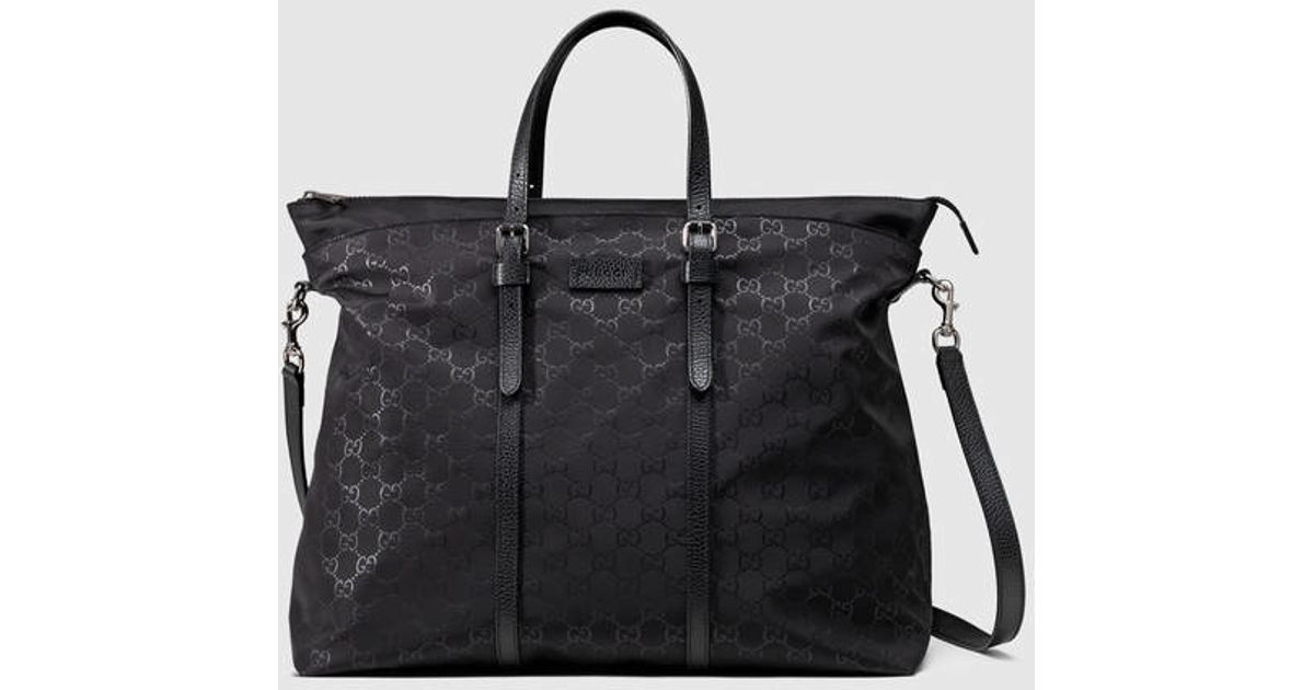 dd969967b57 Lyst - Gucci Nylon Ssima Light Duffle Bag in Black for Men