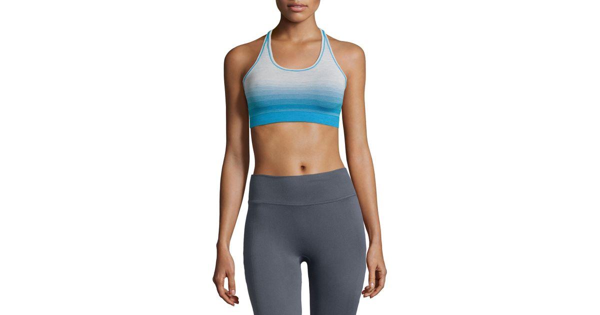 94608b9c2f01d Lyst - Yummie By Heather Thomson Helen Reversible Sports Bra in Blue