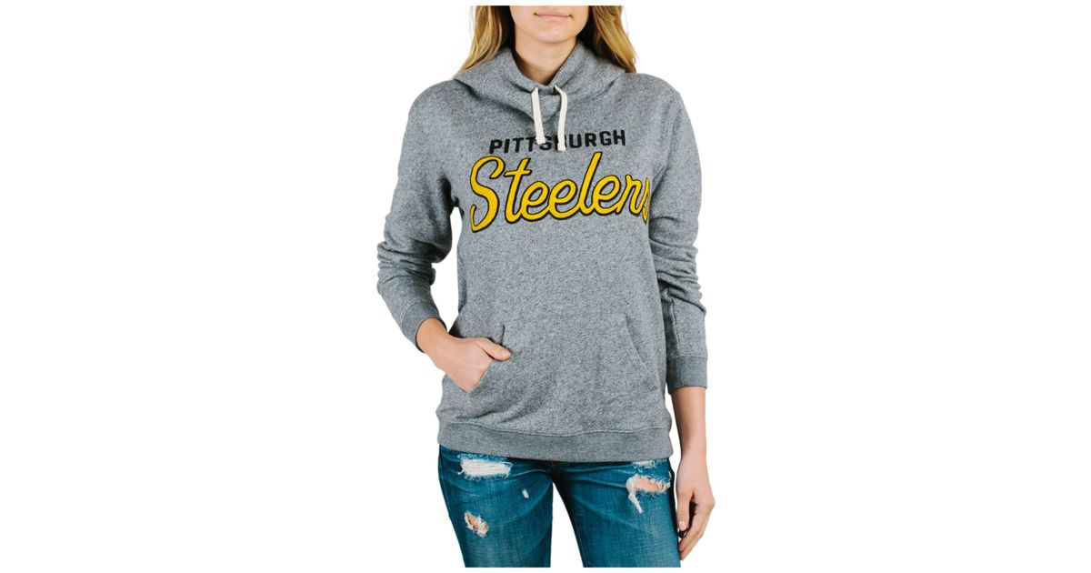 a0c4e1f58 Lyst - Junk Food Women s Pittsburgh Steelers Sunday Hoodie in Gray