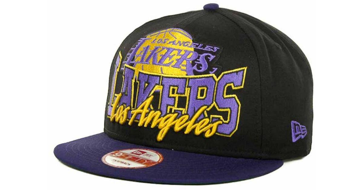 8e23cf27e64 Lyst - Ktz Los Angeles Lakers Nba Hardwood Classics Up Under 9fifty  Snapback Cap in Blue for Men