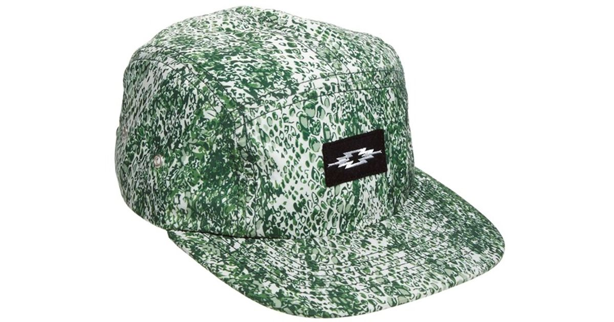 52654898ccd Lyst - Asos 5 Panel Cap with Snake Print in Green for Men