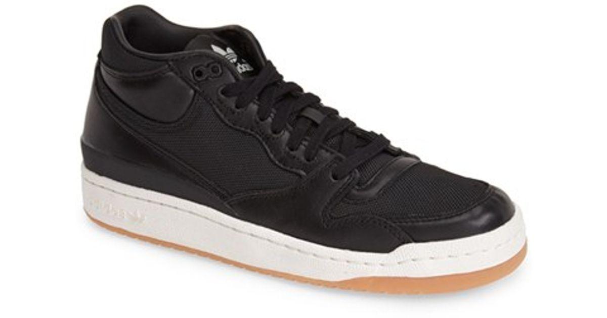 best service bdaeb b1958 ... sale lyst adidas forum mid clean sneaker in black for men ea9fd c069b