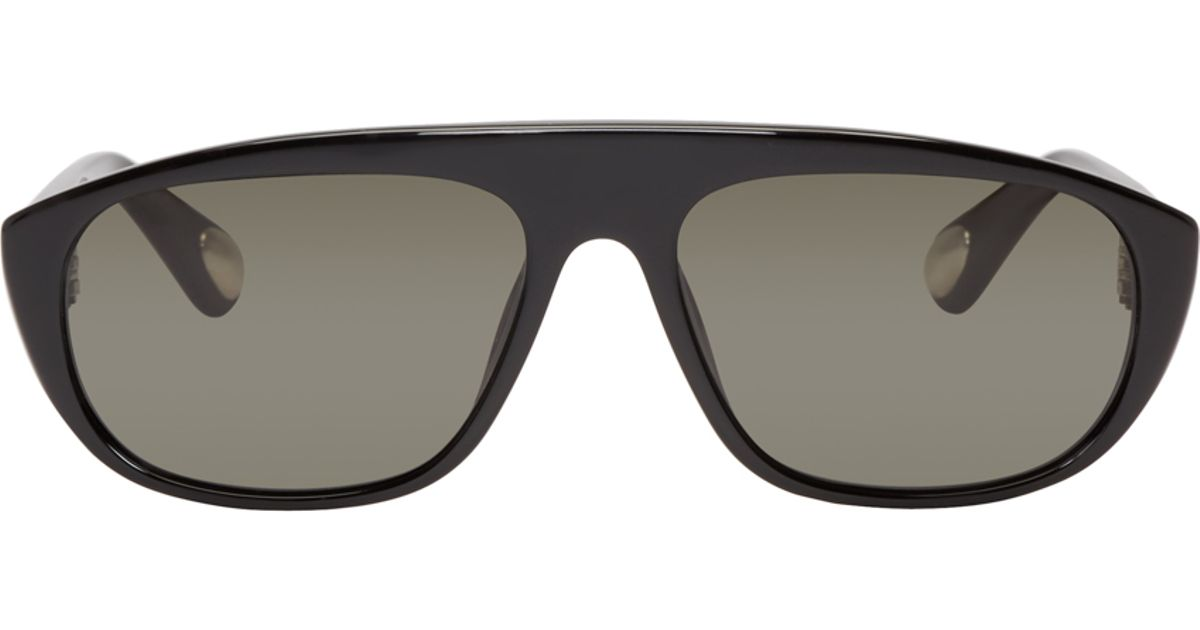 74ec0e4ee5 Lyst - Ann Demeulemeester Black Aviator Linda Farrow Edition Sunglasses in  Black for Men