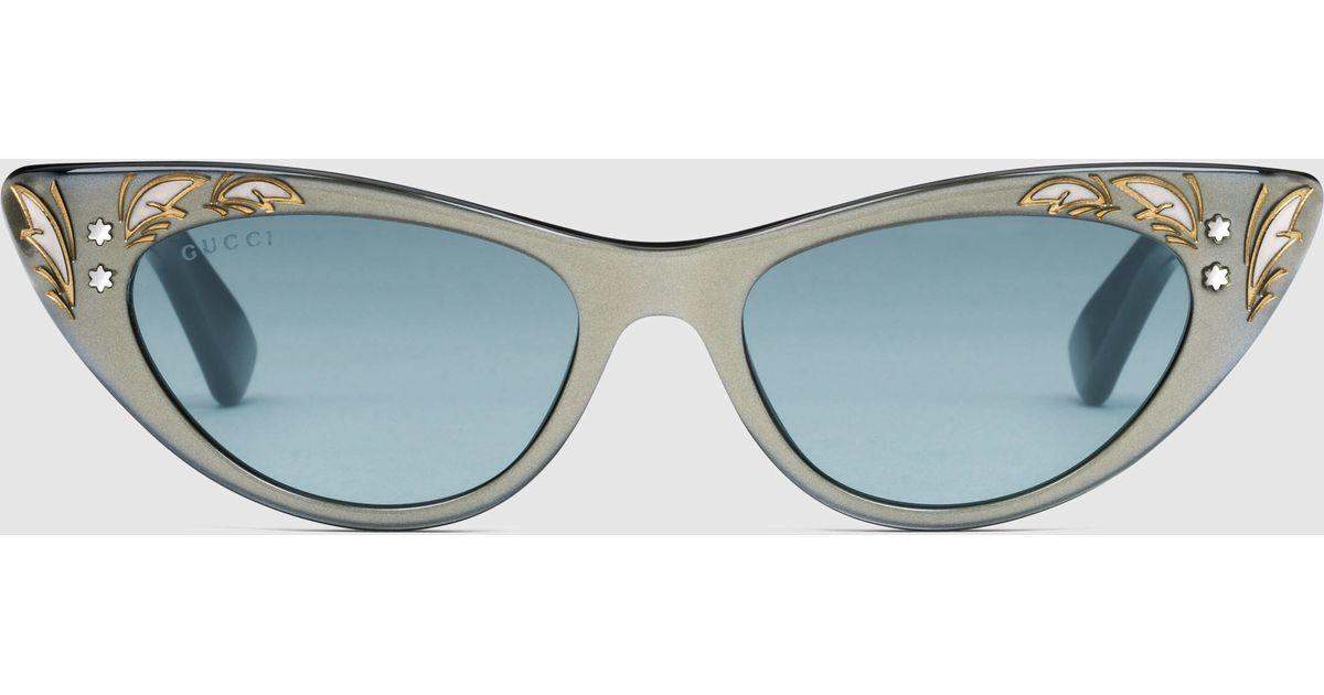 0601b4213e8 Gucci Pearl Sunglasses Cat Eye