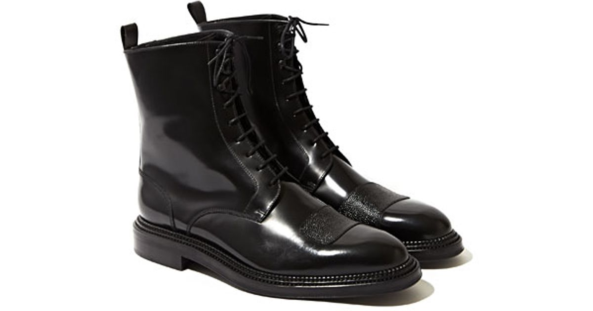 YANG LI Leather Lace Up Boots Outlet Footaction yCIhV