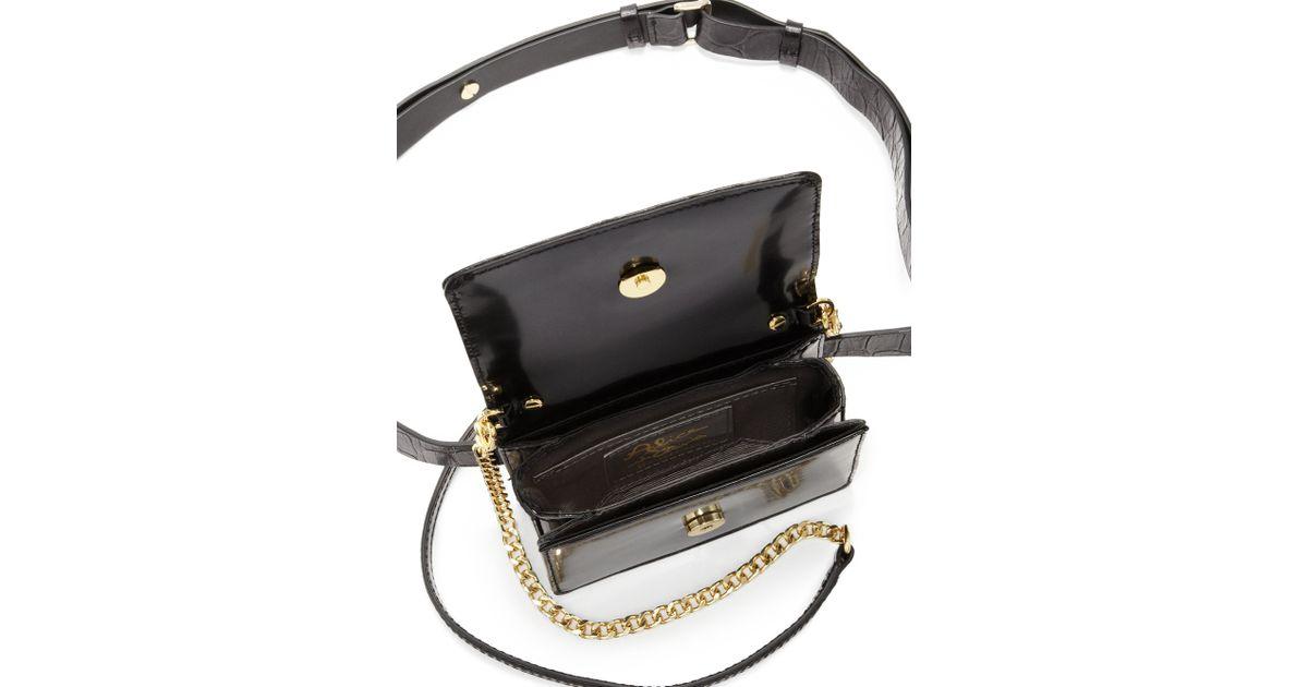 Lyst Alice Olivia Mini Clee Leather Waistpack Shoulder Bag In Black
