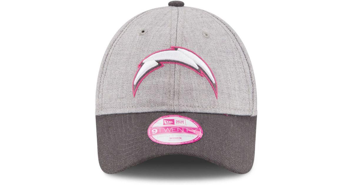 d9713cdc6ba Lyst - KTZ Women s San Diego Chargers Breast Cancer Awareness 9twenty Cap  in Pink