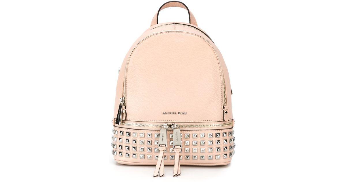 ac58dc46fab1 MICHAEL Michael Kors 'rhea' Backpack in Pink - Lyst