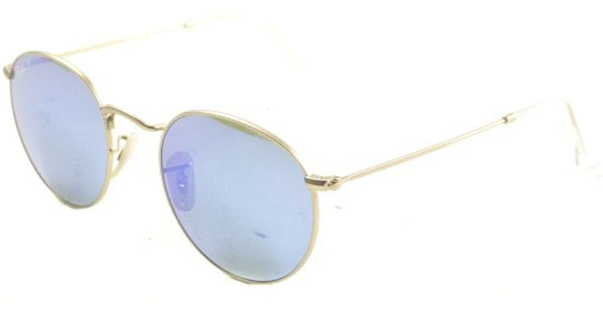 150524d2d9 Ray-Ban Ray Ban Rb3447 Round Metal 112 4l Polarized Sunglasses in Metallic  for Men - Lyst