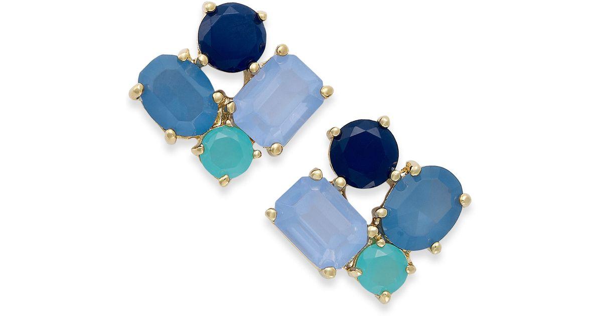 d6aef2bbb28e4 kate spade new york Blue New York Goldtone Cluster Stud Earrings