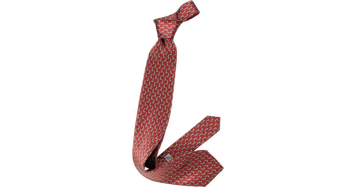 Lanvin Satin Blue Geomtric Print Tie