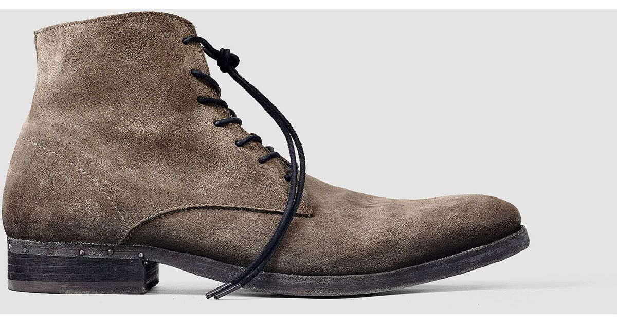 Allsaints Pin Boot In Brown For Men Lyst