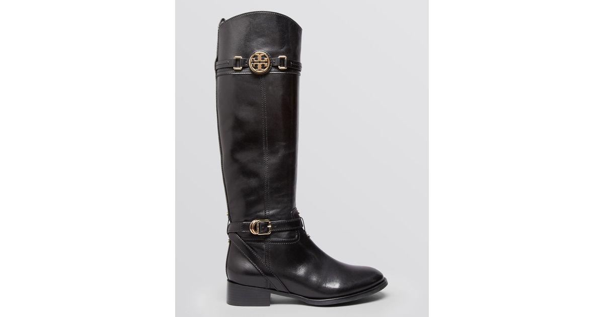 79a4b28f862d Lyst - Tory Burch Tall Flat Riding Boots - Calista in Brown