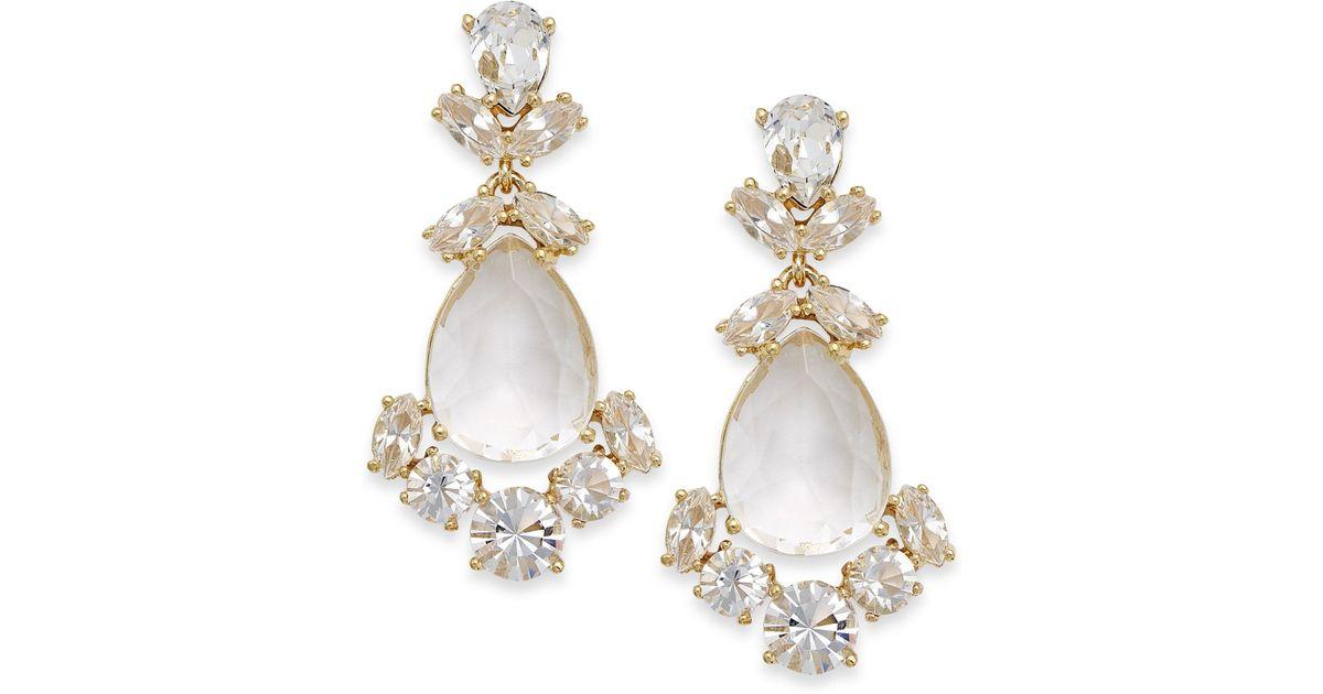88cd5905c00dc kate spade new york White Crystal Chandelier Earrings