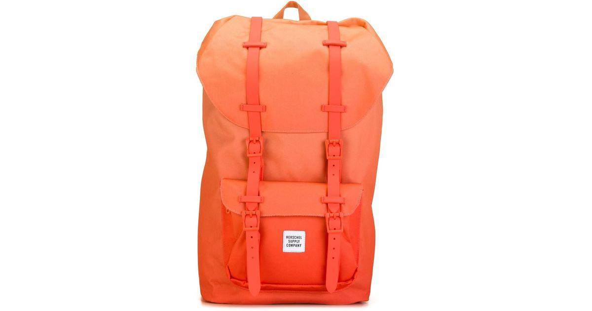 342899cef4a Herschel Supply Co. Buckle Strap Backpack in Orange - Lyst
