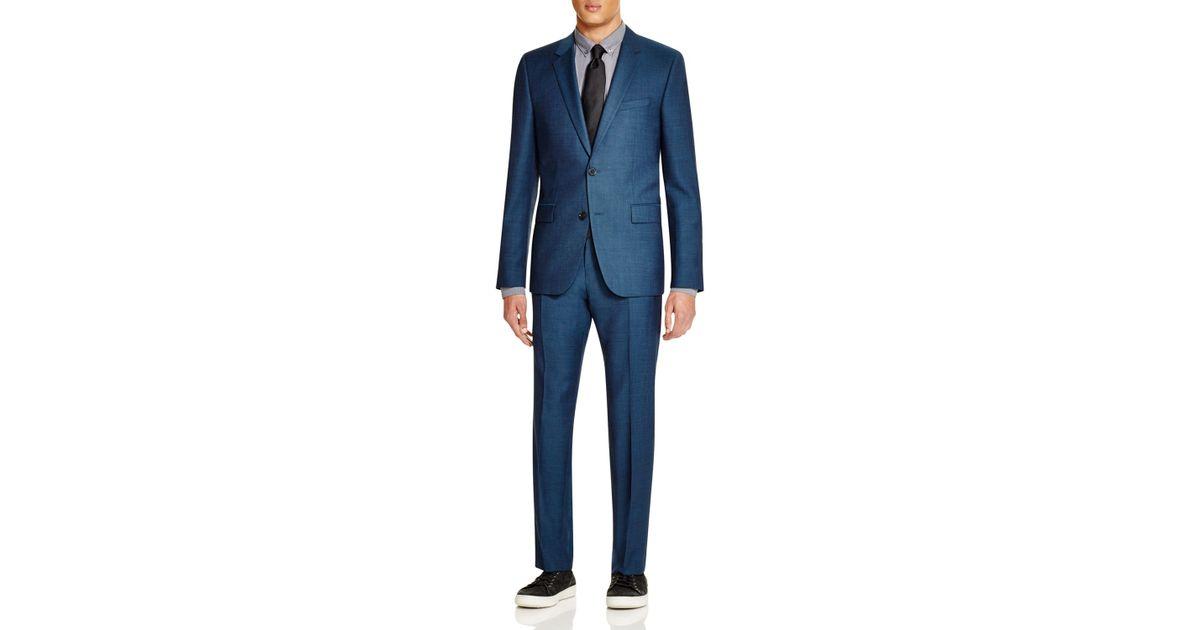 7cc0ca5a BOSS Hugo Twill Aeron/hamen Extra Slim Fit Suit in Blue for Men - Lyst