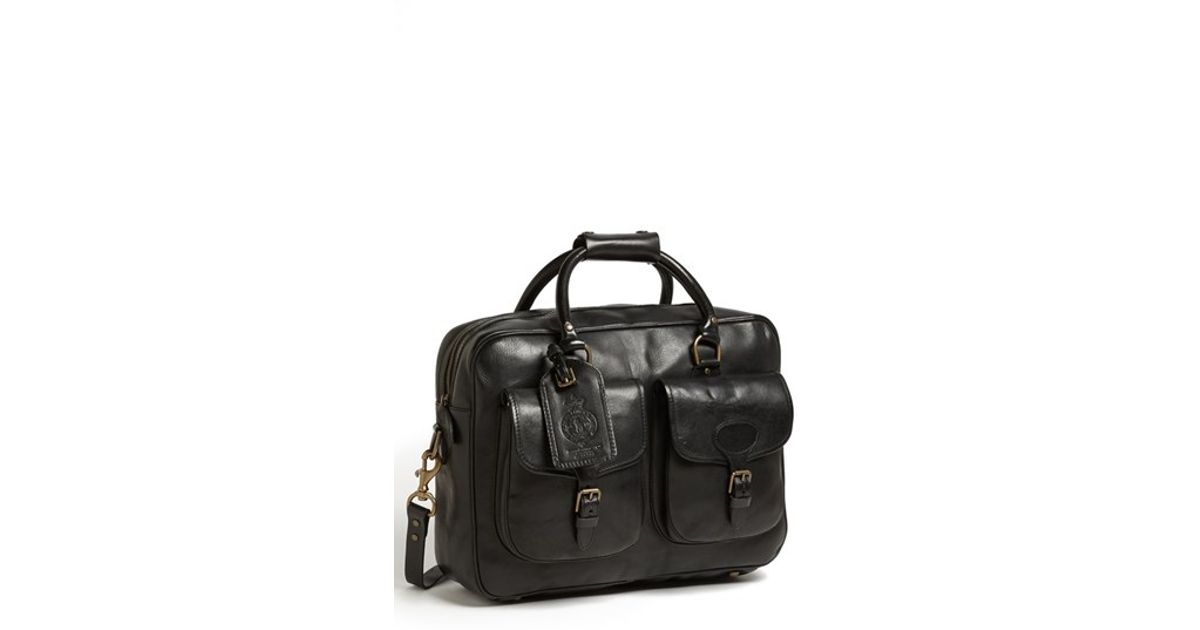 9dff35ac4098 Lyst - Polo Ralph Lauren Leather Commuter Bag in Black for Men