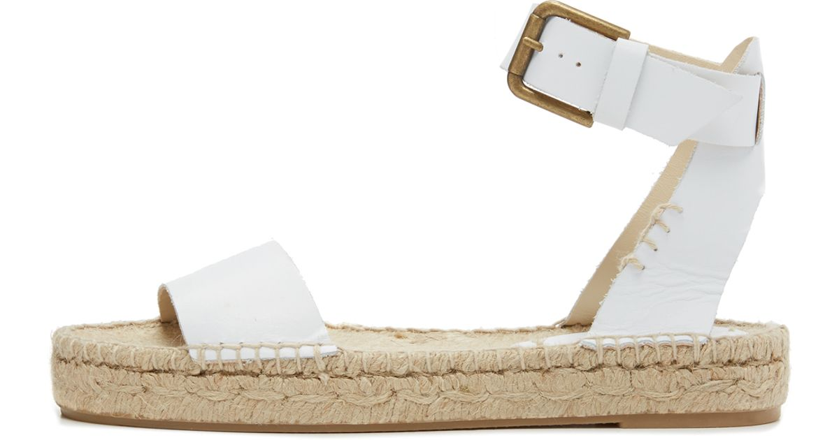9d6ba29f322 Soludos - White Open-Toe Leather Sandals - Lyst