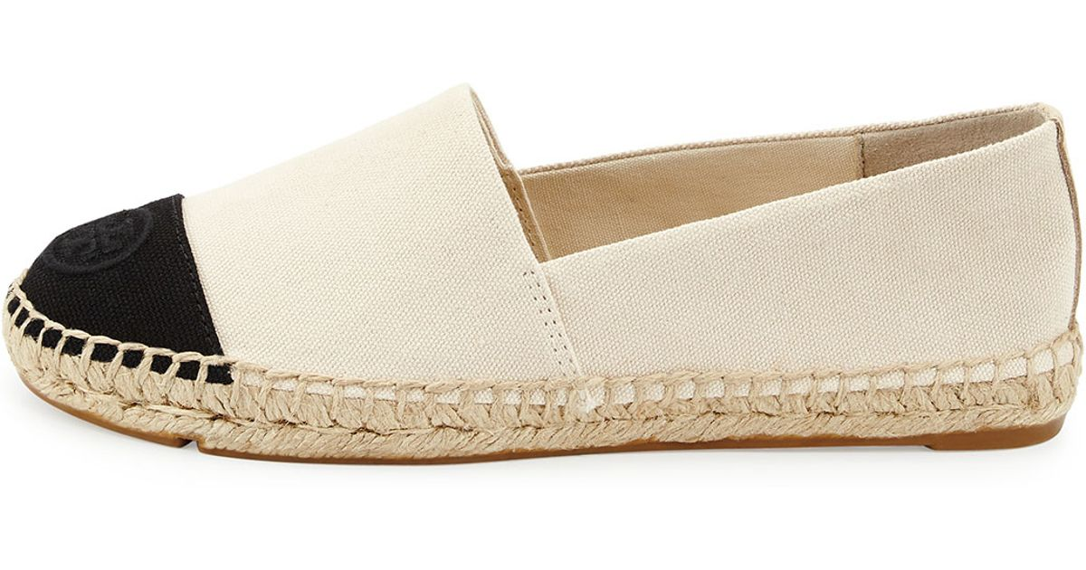 2dcb354c0f36 Lyst - Tory Burch Canvas Colorblock Espadrille Flat in White