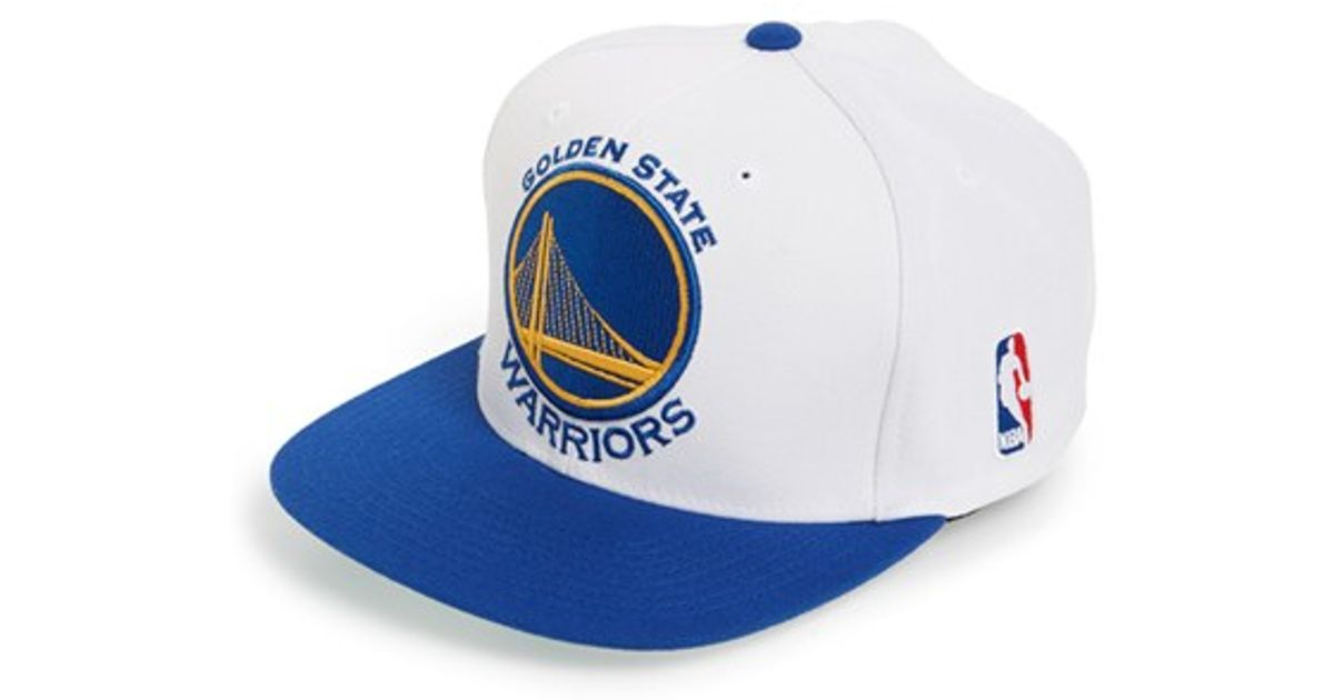 sports shoes 52483 1b876 Mitchell   Ness  golden State Warriors - Xl Logo  Snapback Cap in White for  Men - Lyst