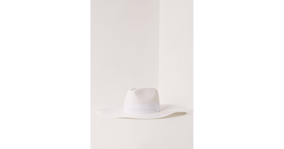 73b58b9a2f13f Missguided Miami Oversized Straw Fedora in White - Lyst