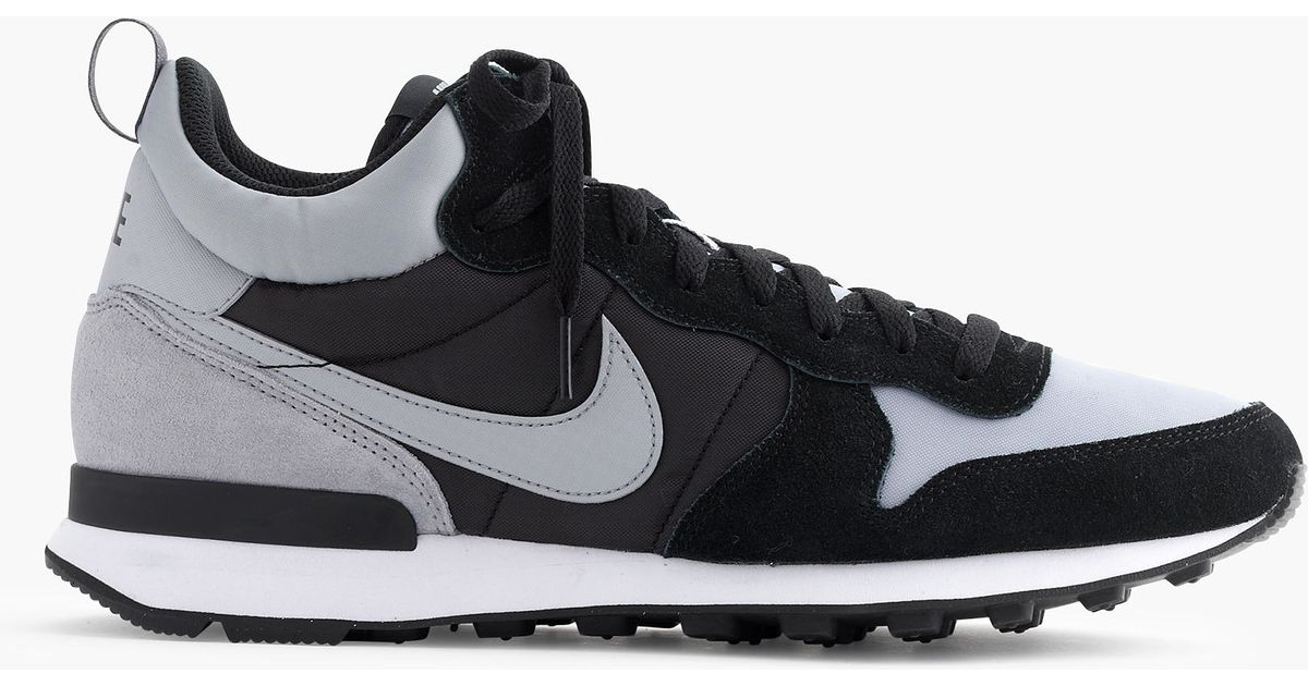huge selection of 873a8 e0b3d ... low price lyst j.crew nike internationalist mid sneakers in gray for men  c3d2e 6a940 ...