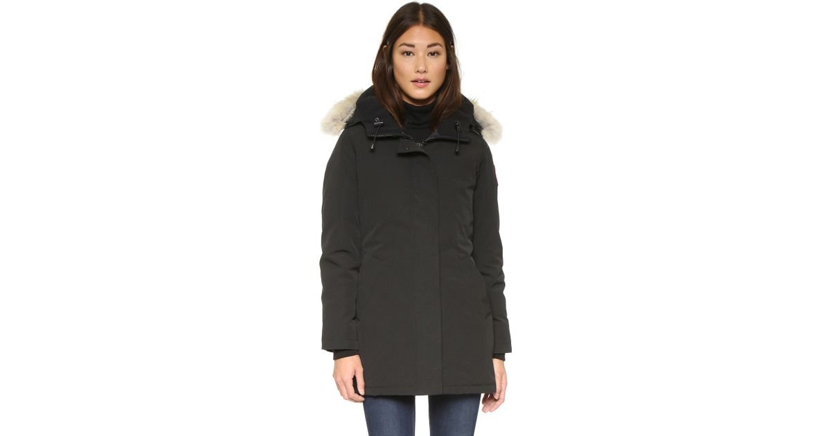 Canada Goose coats replica authentic - Canada goose Victoria Parka in Black | Lyst