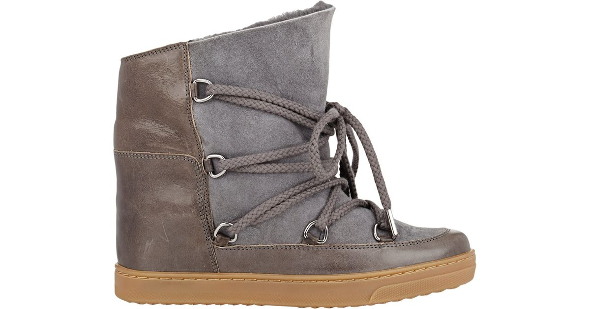 official site cost charm special sales Étoile Isabel Marant Gray Nowles Ankle Boots