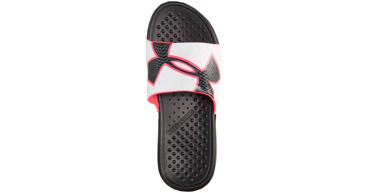 d954daff75 Under Armour Black Women'S Strike Rock Slide Sandals From Finish Line
