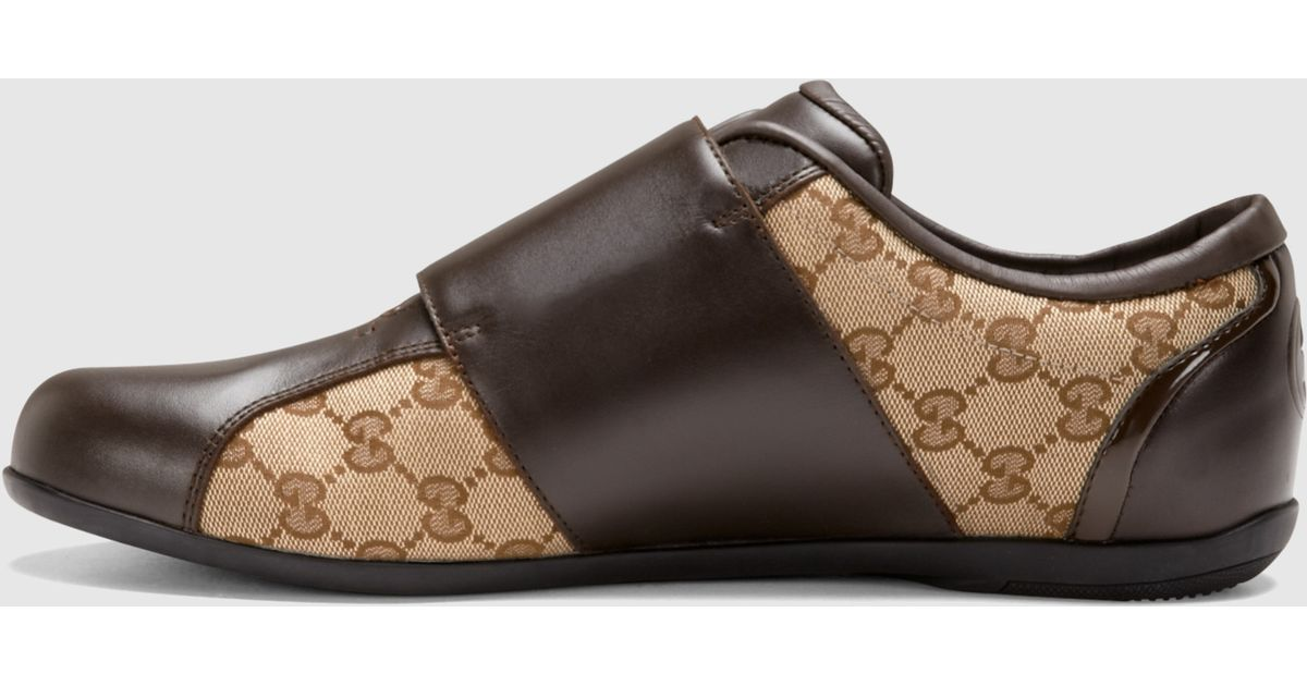 Gucci Brown Leather Velcro Shoe for Men