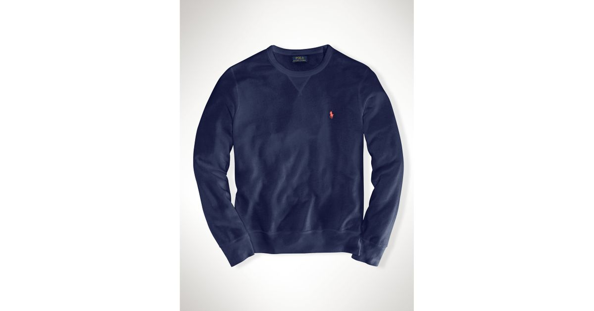d1ca2901f1e3 ... coupon code for lyst polo ralph lauren french terry sweatshirt in blue  3b200 179b2