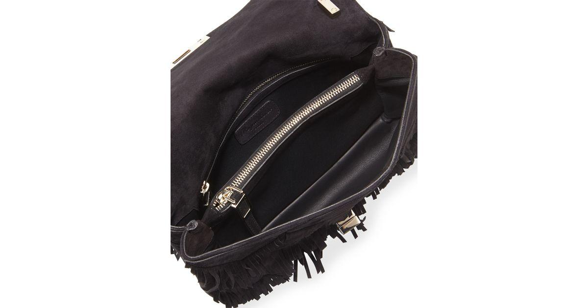 a86a8fe40ee3 Lyst - Roger Vivier Prismick Fringe Bag in Black