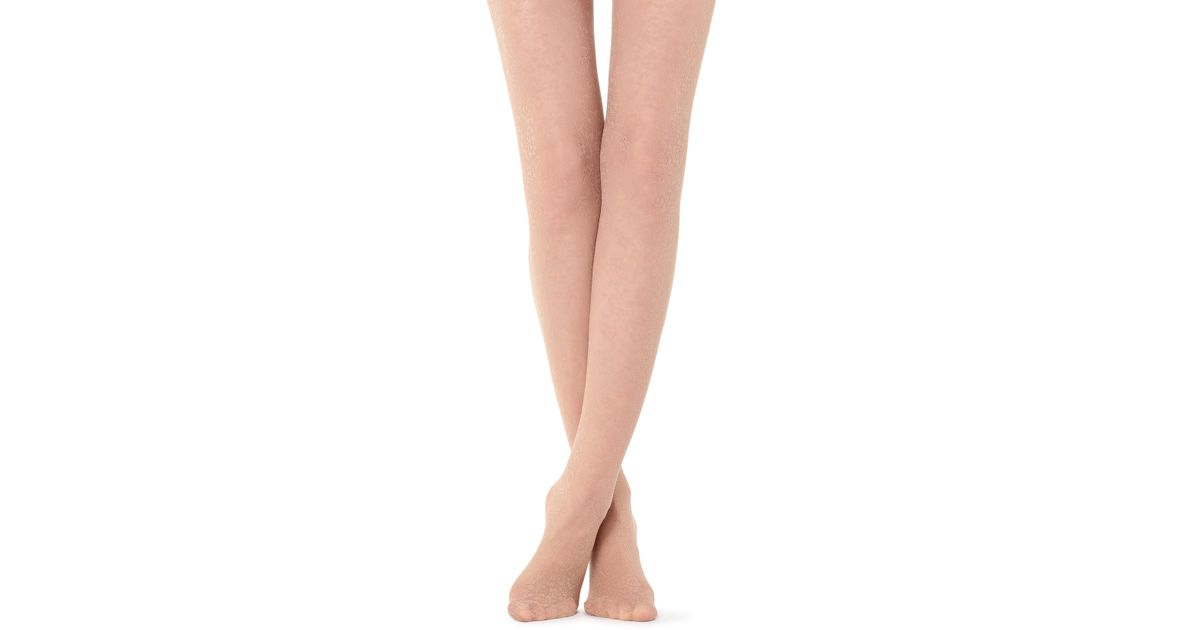 c27a588a66365 Lyst - Calzedonia Floral-patterned Tights
