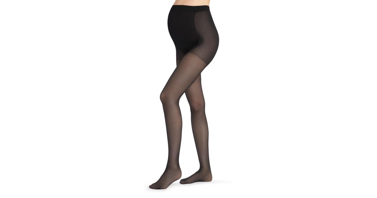 26c21d6a84958 Calzedonia 30 Denier Sheer Maternity Tights in Black - Lyst