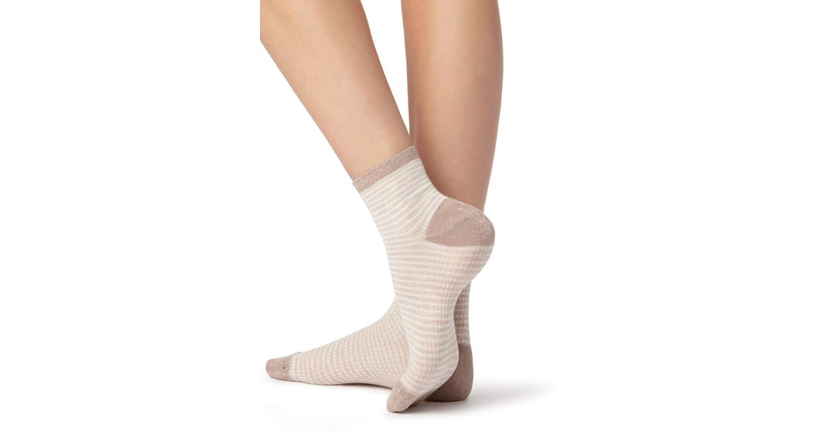 4bd5d2ede Lyst - Calzedonia Short Trendy Patterned Socks in Natural
