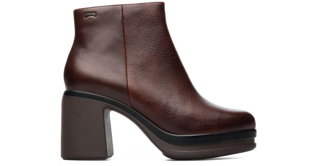 Lyst - Camper Ankle Boots Women Alice in Brown f946bdb162