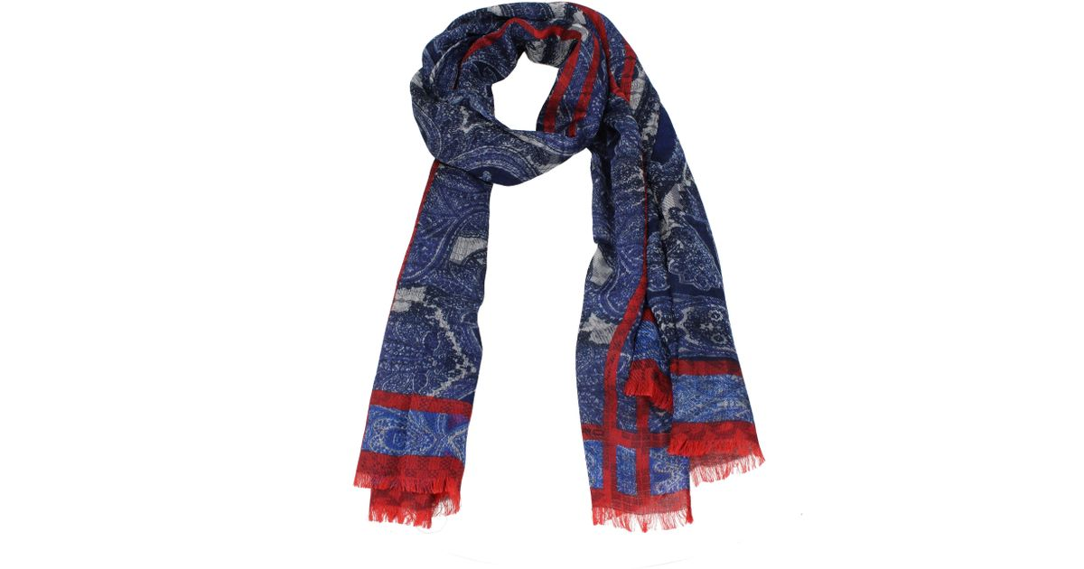 newest 15f97 91936 Etro - Foulard Men Blue for Men - Lyst
