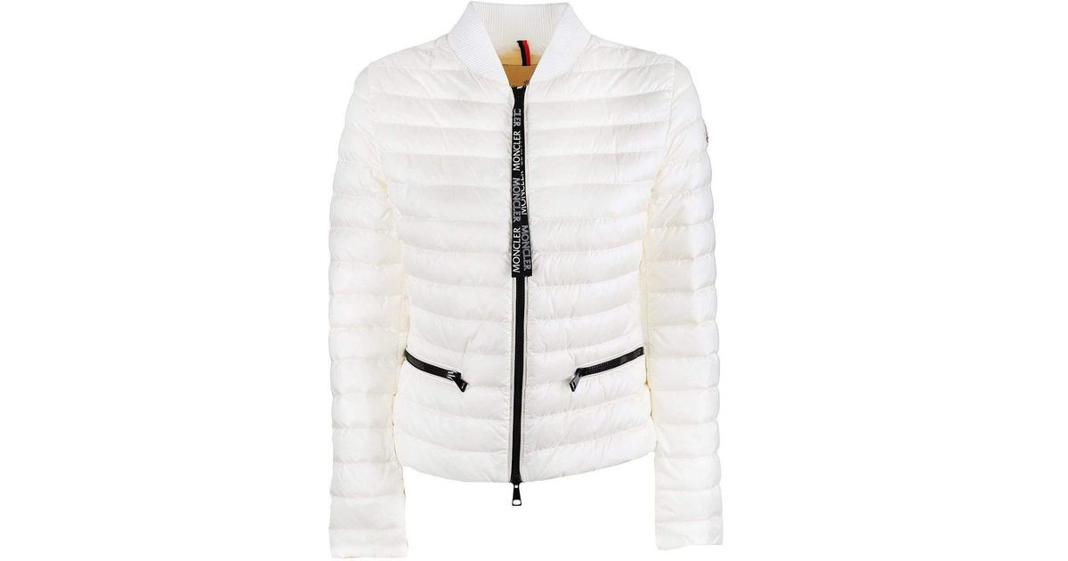 Moncler White Blenca Down Jacket
