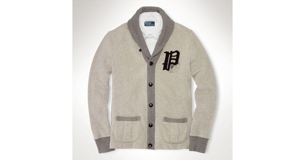 8978b647d Lyst - Polo Ralph Lauren Fleece Gothic P Cardigan in Gray for Men